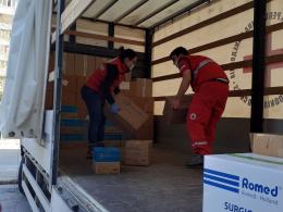 Изпратена медицинска помощ за Република Северна Македония (фотография)