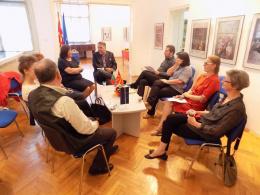 Работна средба помеѓу претставници на Министерството за култура на Р МАкедонија и Министерството за култура на Р Бугарија (снимка)