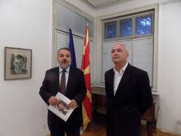 Ликовна изложба на македонски уметник Борислав Траиковски (снимка)