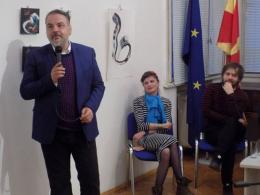 Претставување на книги од 6 македонски писатели (фотографија)