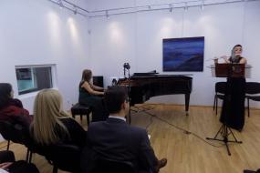 """Концерт """"Вечер на македонски автори"""" на Златка Митева - флејта и Наташа Трбојевиќ - пијано (фотографија)"""